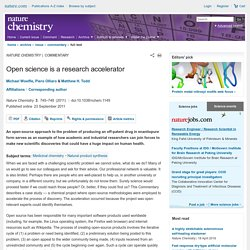 Open science is a research accelerator : Nature Chemistry