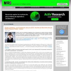 Market Research News : l'actualité et le guide des études marketing la vie du conseil et des études marketing