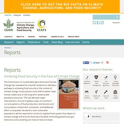 Reports from the Commission on Sustainable Agriculture and Climate Change