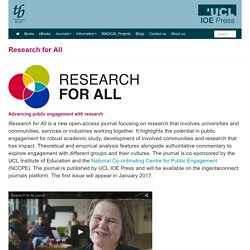 Journal : Research for all