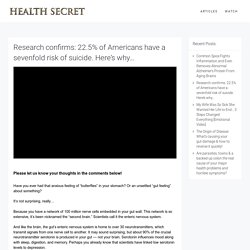 Research confirms: 22.5% of Americans have a sevenfold risk of suicide. Here's why - Health Secret