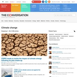 Climate change – News, Research and Analysis – The Conversation