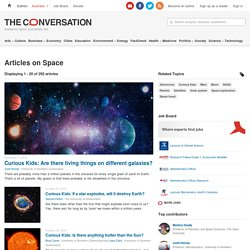 Space – News, Research and Analysis – The Conversation – page 1
