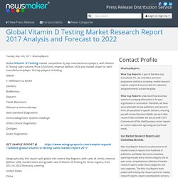 Global Vitamin D Testing Market Research Report 2017 Analysis and Forecast to 2022