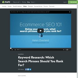 How to Do Keyword Research and Analysis for SEO - Video Guide Tutorial
