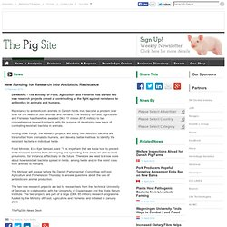 PIGSITE 12/02/10 New Funding for Research into Antibiotic Resistance