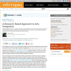 A Research-Based Approach to Arts Integration