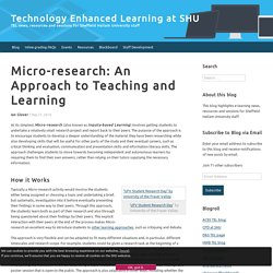Micro-research: An Approach to Teaching and Learning