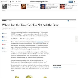 Research on How the Brain Perceives Time