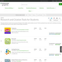 Research and Citation Tools for Students