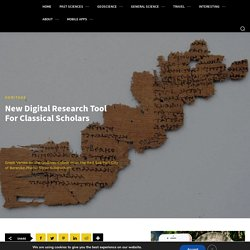 New Digital Research Tool For Classical Scholars