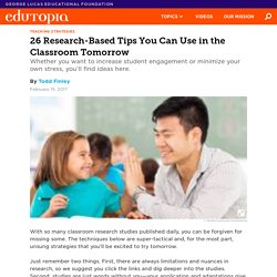 26 Research-Based Tips You Can Use in the Classroom Tomorrow