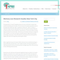 Memory Loss Clinical Research Studies Brooklyn, NYC - SPRI Clinical Trials