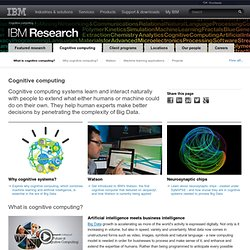 SyNAPSE: a cognitive computing project from IBM Research - United States - StumbleUpon