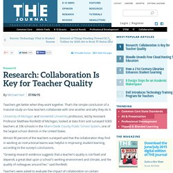 Research: Collaboration Is Key for Teacher Quality