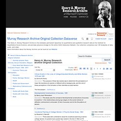 Murray Research Archive on Dataverse Harvard
