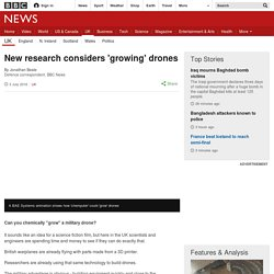 New research considers 'growing' drones