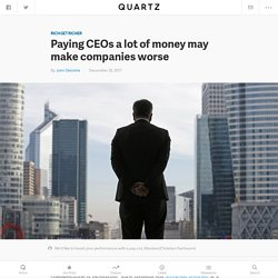 Vlerick research: Overpaid CEOs may worsen corporate performance