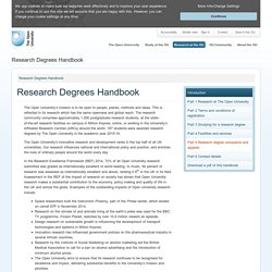 Research Degrees Handbook