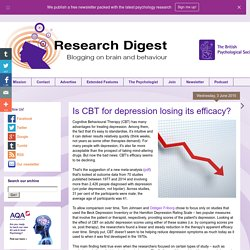 Is CBT for depression losing its efficacy?