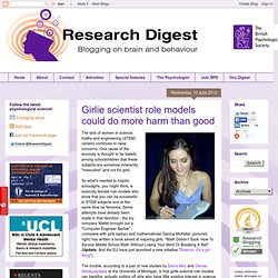Girlie scientist role models could do more harm than good