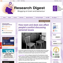 thanks kiera: How room and desk size affect people's comfort discussing personal issues
