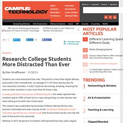 Research: College Students More Distracted Than Ever