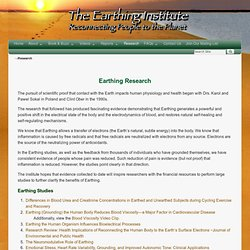 Earthing Research - EarthingInstitute.net