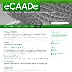 Research – eCAADe