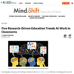 Five Research-Driven Education Trends At Work in Classrooms