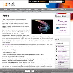 Janet, the UK's research and education network