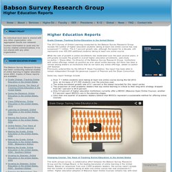Babson Survey Research Group: Higher Education Reports