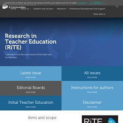 Research in Teacher Education