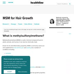 MSM for Hair Growth: Research, Side Effects, and Outlook