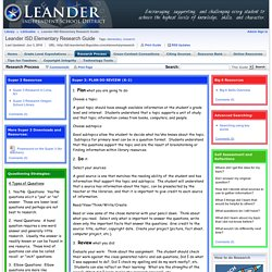 Research Process - Leander ISD Elementary Research Guide - LibGuides at Leander District Library