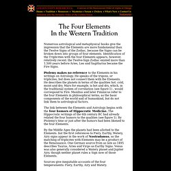 Golden Dawn Research Center - The Four Elements in the Western Tradition