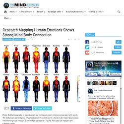 Research Mapping Human Emotions Shows Strong Mind Body Connection