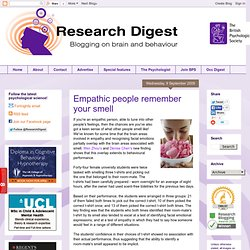 Empathic people remember your smell