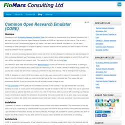 Common Open Research Emulator (CORE) - FinMars Consulting Ltd