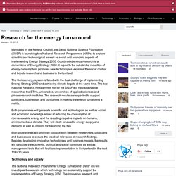 Research for the energy turnaround