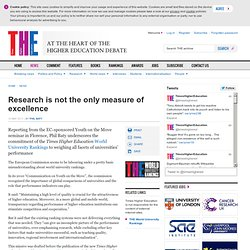 Research is not the only measure of excellence