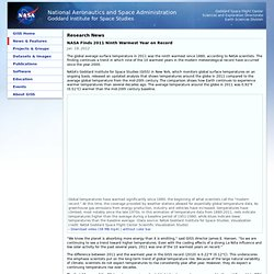 NASA 2011 Ninth Warmest Year on Record
