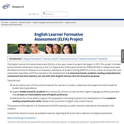 ETS Research: English Learner Formative Assessment Project