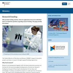 Research Funding - BMBF