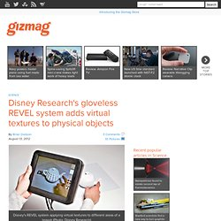 Disney Research's gloveless REVEL system adds virtual textures to physical objects