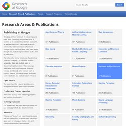 Publications by Googlers