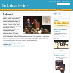 About The Research -The Gottman Institute