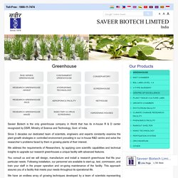 Research Greenhouse, Solutions of Research Greenhouse Delhi Noida India