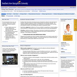 Home - Citing Your Sources - Research Guides at Southern New Hampshire University - Shapiro Library