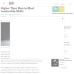 Research: Women Score Higher Than Men in Most Leadership Skills
